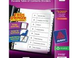 Avery Ready Index 8 Tab Template Avery Ready Index Table Of Contents Dividers Eight Tab 1