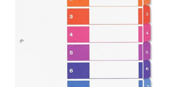 Avery Ready Index Divider Templates 8 Tab Avery Ready Index Customizable Table Of Contents Classic