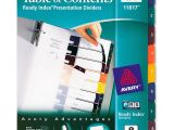 Avery Ready Index Dividers 8 Tab Template Avery Ready Index Translucent Table Of Content Dividers