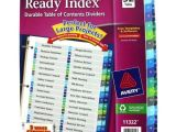 Avery Ready Index Double Column Dividers 32 Tabs Template Avery 1 32 Tab 11 Quot X 8 5 Quot Double Column toc Dividers 11322
