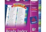 Avery Ready Index Double Column Dividers 32 Tabs Template Avery Double Column Index Divider Ld Products