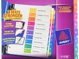 Avery Ready Index Template 10 Tab Avery Ready Index Table Of Contents Dividers 10 Tab Set