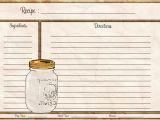 Avery Recipe Card Template Mason Jar Recipe Card 4×6 Recipe Card Pdf Download