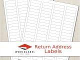 Avery Return Address Label Template Address Labels Word