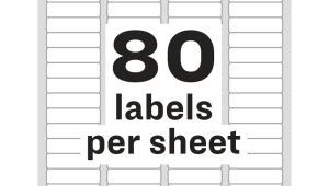 Avery Return Address Label Templates Avery White Easy Peel Address Labels Ave 18167