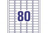Avery Return Address Labels 80 Per Sheet Template Avery Mini Labels Laser 80 Per Sheet 35 6×16 9mm White