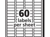 Avery Return Address Labels Template 5195 Avery Easy Peel White Return Address Labels for Laser