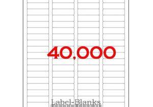 Avery Return Address Template 40000 Laser Ink Jet Labels 80up Return Address Template