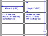 Avery Shipping Label 10 Per Sheet – 2 X 4 Template White Laser Labels Blank White Labels Similar to Avery