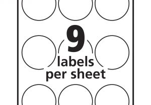 Avery Sticker Templates Circle Avery White Print to the Edge Round Labels