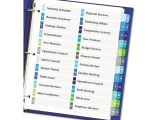Avery Table Of Contents Template 24 Tab Ready Index Customizable Table Of Contents Double Column