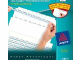 Avery Template 11447 Avery Index Maker Clear Label Dividers Easy Apply Label
