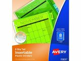 Avery Template 11901 Avery 11901 Insertable Big Tab Plastic Dividers 8 Tab