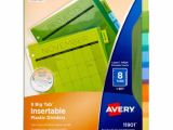 Avery Template 11901 Avery Big Tab Insertable Plastic Dividers 8 Tabs Divider