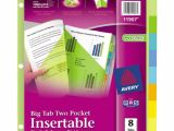 Avery Template 11901 Avery Worksaver Big Tab Insertable Dividers 5 Tabs 1 Set