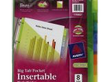 Avery Template 11903 Avery Ave11903 Insertable Big Tab Plastic Dividers W