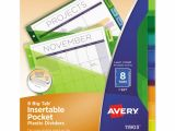 Avery Template 11903 Avery Insertable Big Tab Plastic Dividers W Single