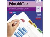 Avery Template 16281 Ave16281 Avery Printable Plastic Tabs with Repositionable