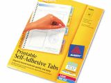 Avery Template 16281 Avery assorted Printable Repositional Plastic Tabs 96pk