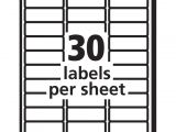 Avery Template 30 Labels Per Sheet Review Of Avery Easy Peel Address Labels for Inkjet Printers