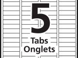 Avery Template 5 Tab Index Maker Dividers Templates Avery