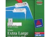 Avery Template 5027 Avery Permanent Extra Large File Folder Labels with