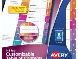 Avery Template 8869 Avery Template 11437 Mac Fresh Avery Index Maker Clear