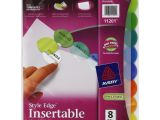 Avery Templates 11201 Avery Ave11201 Insertable Style Edge Tab Plastic Dividers