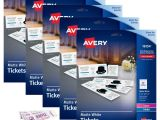 Avery Templates for event Tickets Avery Printable Tickets Template