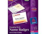 Avery Templates for Name Badges Avery 74459 Insertable Name Badge Kit White Quickship Com