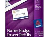 Avery Templates for Name Badges Avery Name Badge Insert Refills 2 1 4 Quot X 3 1 2 Quot 8up 50