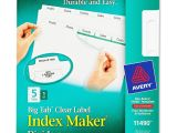 Avery Templates Tabs Avery Big Tab Index Maker Clear Label Divider Ave11490