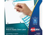 Avery Templates Tabs Avery Index Maker Print Apply Clear Label Dividers with