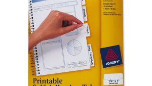 Avery Templates Tabs Avery Printable Tabs Self Adhesive White 80 Pk Ld