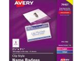 Avery Vertical Name Badge Template Avery 74461 Badge Holder Kit W Laser Inkjet Insert top