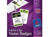 Avery Vertical Name Badge Template Avery Fold Clip Name Badge Vertical 2 1 4 Quot X 3 1 2
