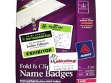 Avery Vertical Name Badge Template Avery Fold Clip Name Badges