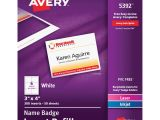 Avery Vertical Name Badge Template Avery Name Badge Insert Refill Ave5392 Supplygeeks Com