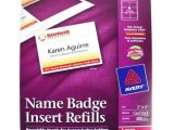 Avery Vertical Name Badge Template Avery Name Badge Insert Refills 3 Quot X 4 Quot 6up 50 Sheets