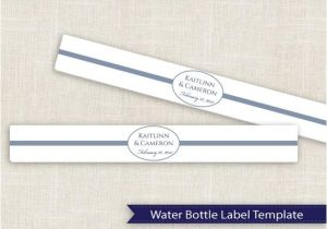 Avery Water Bottle Label Template Diy Water Bottle Label Template for Avery 22845 by
