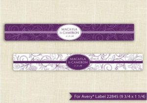 Avery Water Bottle Label Template Downloadable Water Bottle Label Template for Avery 22845