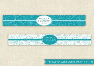 Avery Water Bottle Label Template Downloadable Water Bottle Label Template for by Karmakweddings