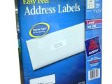 Avery White Address Labels 5160 Template Address Labels Avery Easy Peel White Laser Inkjet