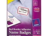 Avery White Adhesive Name Badges 5395 Template Bettymills Avery Red Border Removable Adhesive Name