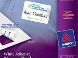 Avery White Adhesive Name Badges 5395 Template Name Badges Accessories Templates