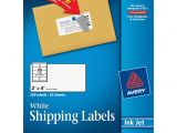 Avery White Shipping Labels 5163 Template Avery 8163 White Inkjet Shipping Labels Permanent Adhesive