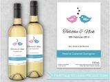 Avery Wine Label Templates Personalized Wedding Wine Bottle Labels by Fairytaleweddingpro