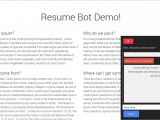 Aws Basic Resume Resumebot Develop Serverless Chatbot In Minutes for Your