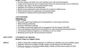 Aws Sample Resumes Aws Engineer Resume Samples Velvet Jobs