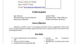 B Com Student Resume Resume Sample for B Com Graduates